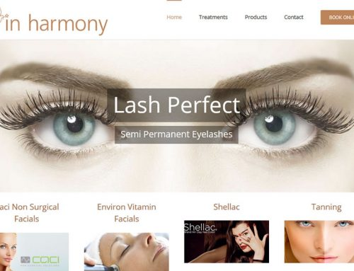 Makeover for Inharmony Beauty Website