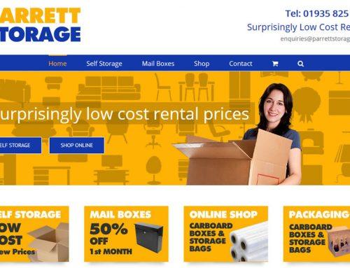 New Branding & Website for Parrett Storage