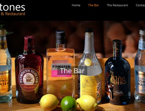 New Website for Stones Bar and Restaurant