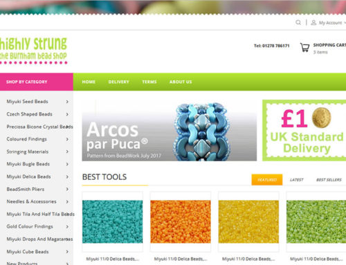 eCommerce Upgrade for Highly Strung Beads