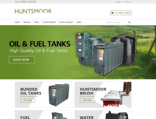 New eCommerce Shop for Huntsmoor