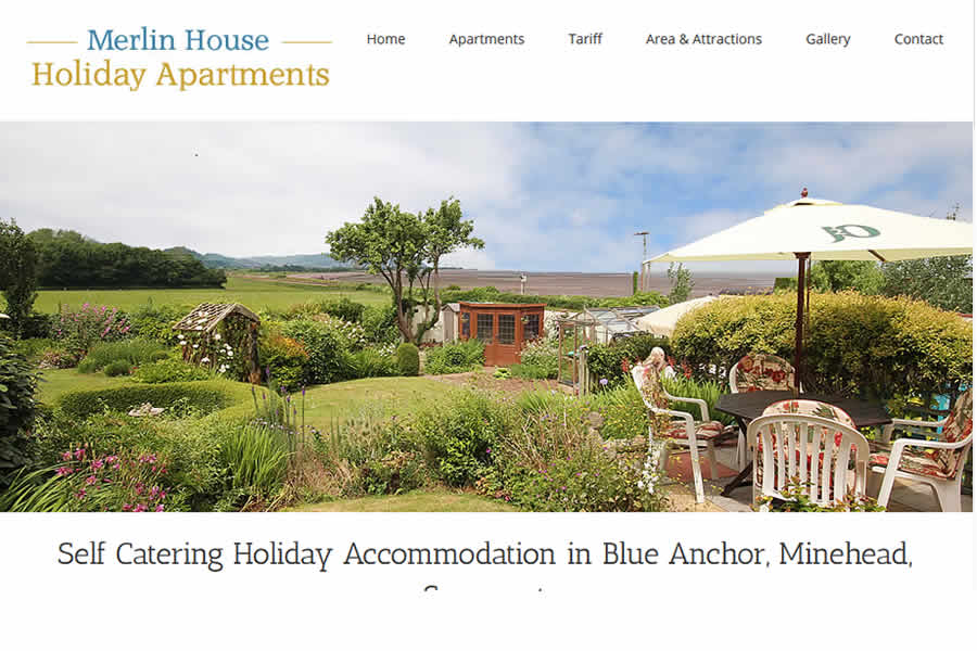 Holiday accommodation website design in Somerset