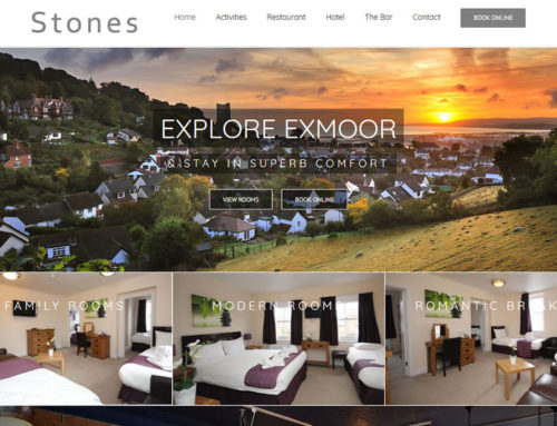 New website for Stones Hotel in Minehead