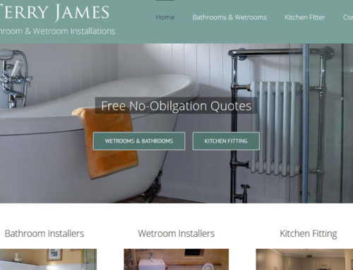 Website Makeover for Terry James Bathrooms & Wetrooms in Somerset