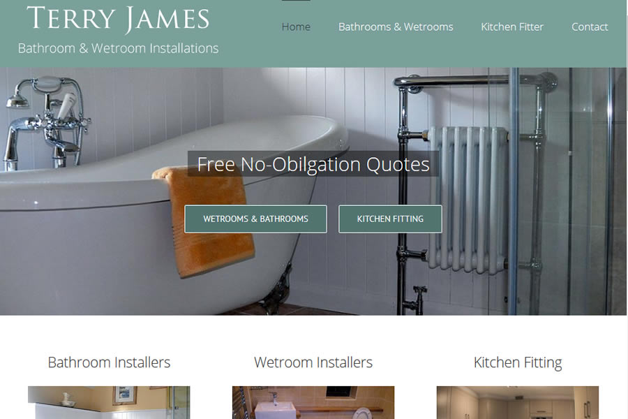 Bathrooms and Wetrooms website designers in Minehead, Somerset