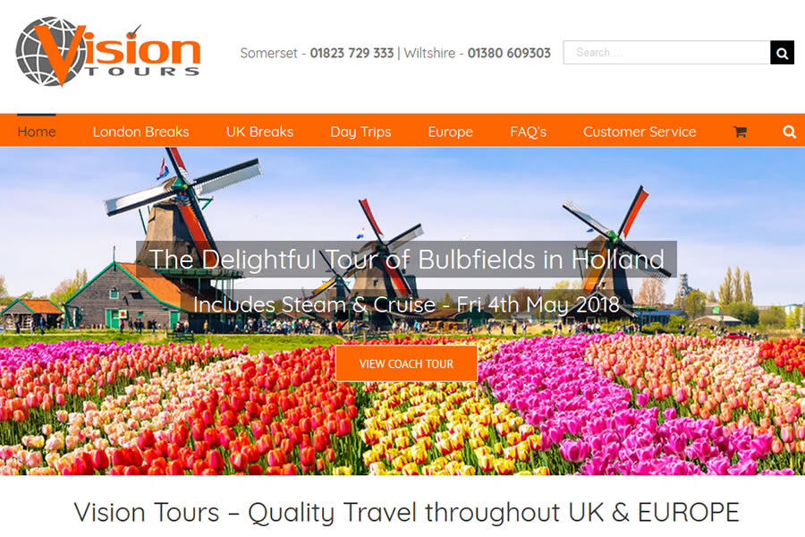 Coach Tours Website designers in Somerset