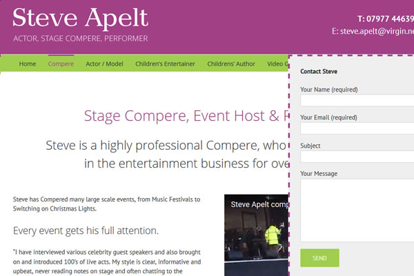Website Designers for Actors and Entertainers in Somerset